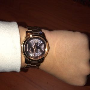 Rose gold Michael Kors MK watch